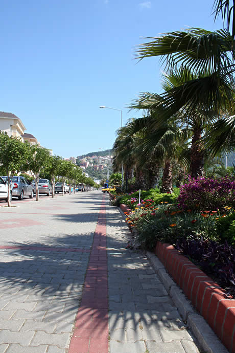 A street in alanya antalya photo