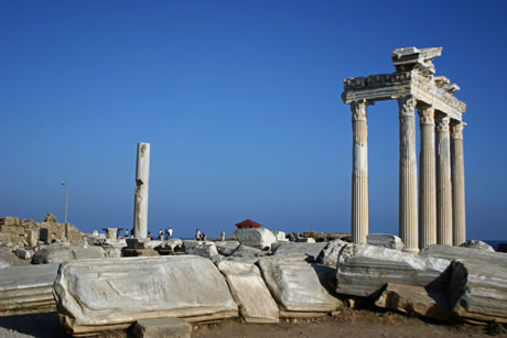 Ancient ruins in side antalya photo
