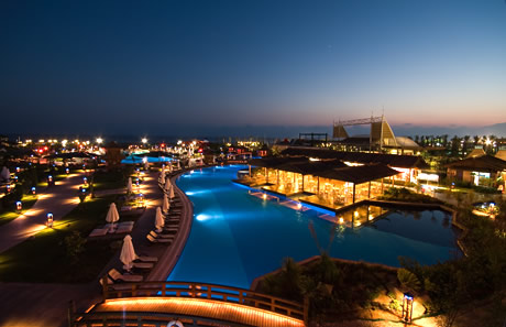 Luxury hotel and swimming pool in antalya photo